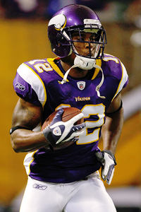 WR Percy Harvin will become one of McNabb's favorite targets