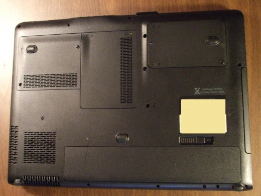 Notice how many air vent-grills there are on the bottom of a laptop computer.