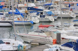Modes of Transportation from around the World Boats in the Funchal Marina on Madeira