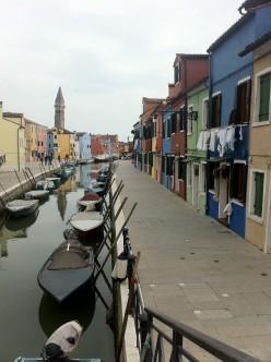Burano Island off the coast of Venice, Italy