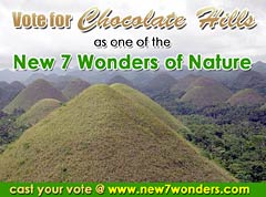 Vote for chocolate hills no!