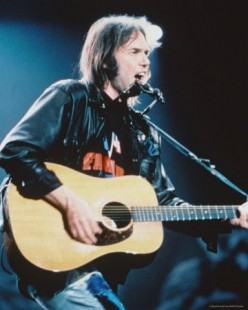 Neil Young guitar poster
