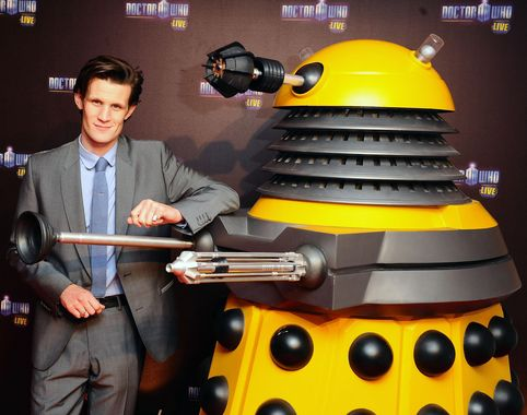 Doctor Who Matt Smith with Dalek