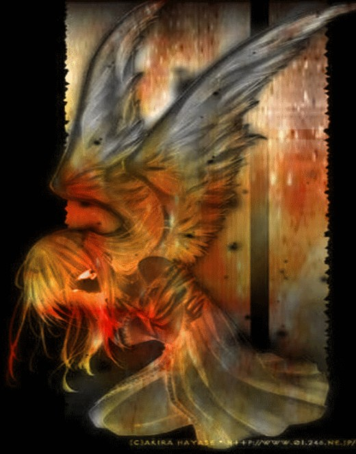 She was the nightingale trapped in her lonesome golden cage Wings broken, tail burning, and a heart combusting with rage