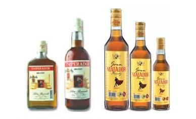 Emperador Brandy and Matador Brandy