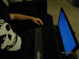 You too can work from your couch. (Props if you recognize the logo on my shirt)