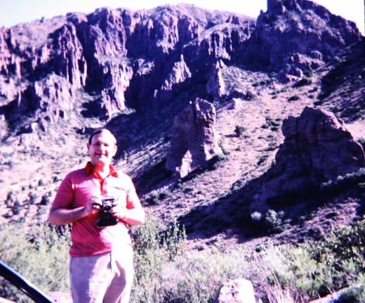 My hubby in Chisos Mountains