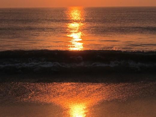 Sunrise off a Nags Head Beach
