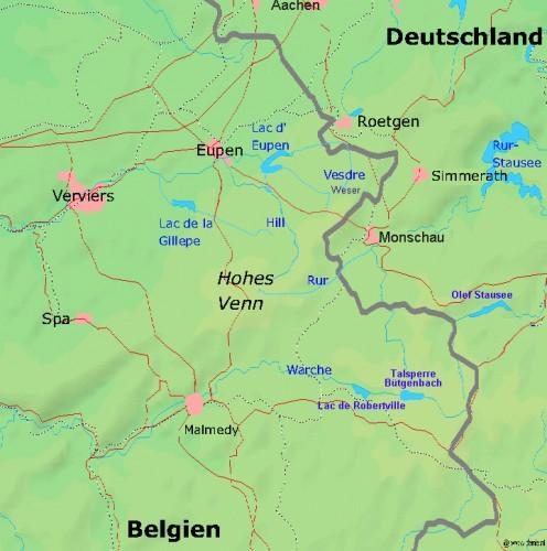 The Hautes Fagnes area in eastern Belgium
