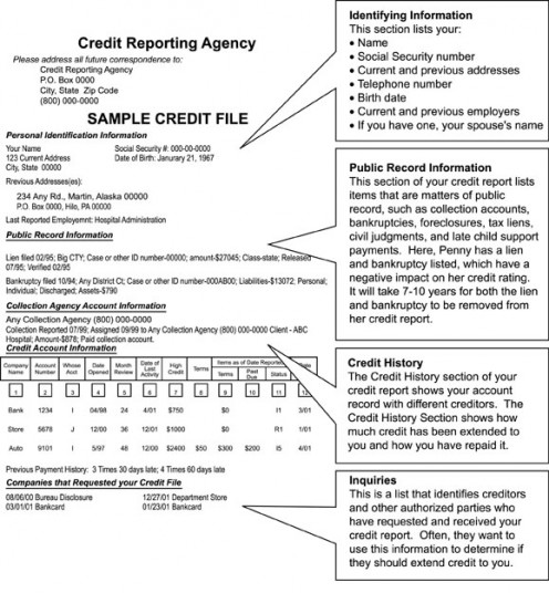 Sample of Credit Report