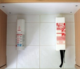 Installing a fire extinguisher or blanket can save your house and possibly lives.