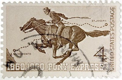 The pony express delivered mail less than two years.