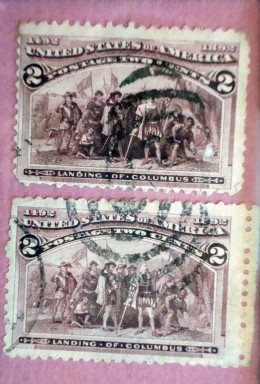 1893 Columbian Exposition Stamp - The First Commerative Postage Stamp
