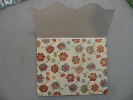 Fold card with printed side up