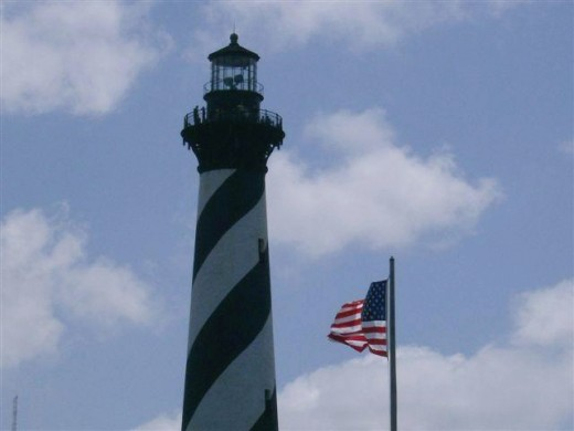 Cape Hatteras Lighthouse- you can climb this for a fee