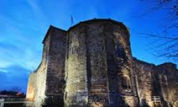 Colchester Castle tower - overtones of Falaise in the positioning of the round tower