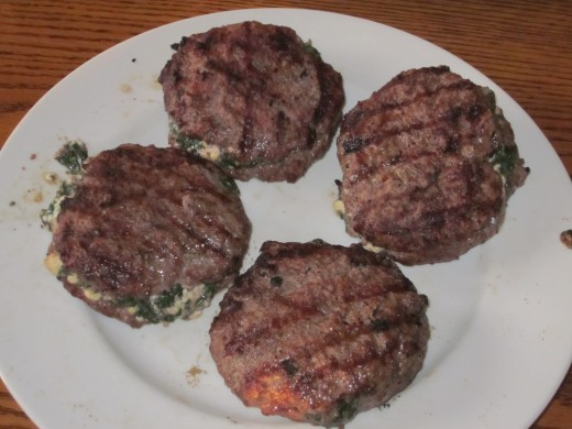 Stuffed Lamb and Beef Burgers Cooked to Perfection!