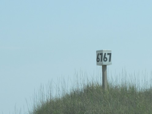 The sign at the top of the ramp- we almost made it... this was next to the vehicle