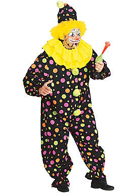 Adult Plus Clown Costume
