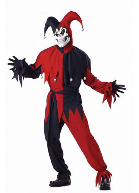 Adult Plus Wicked Jester Costume