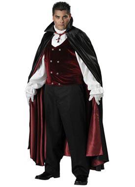 Adult Plus Premium Gothic Vampire Costume