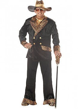 Adult Plus Big Daddy Dolla's Costume