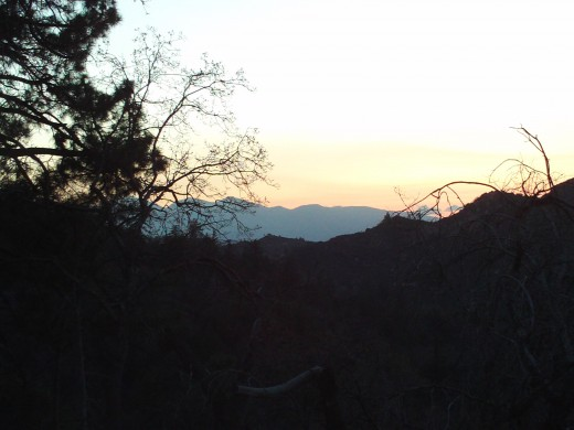 Mount Baldy is spotted in this sunset photograph.