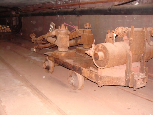 Machinery used in the tunnel.