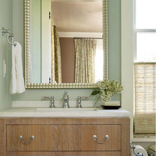 Change the colors or the fixtures in the bathroom or the kitchen.