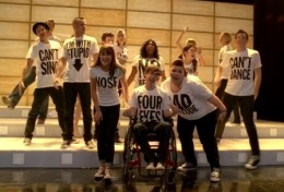 The Gleeks with their Born this Way performance T-shirts.