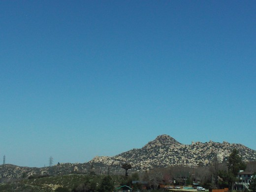 The Pinnacles in the San Bernardino Mountains look amazing surrounded by the cerulean blue sky.