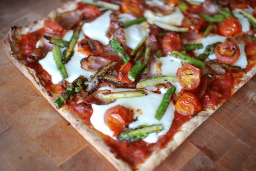 Healthy pizza toppings taste delicious and look appetizing - pizza should be art!