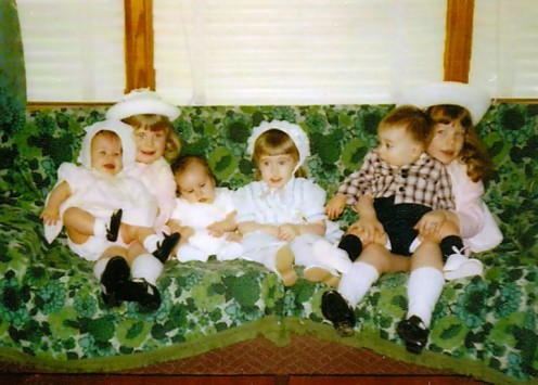 All the cousins dressed up for Easter.