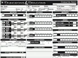 Character Sheets