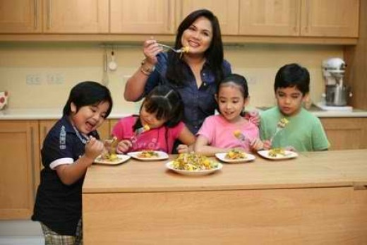 The host, Judy Ann with some of the kids
