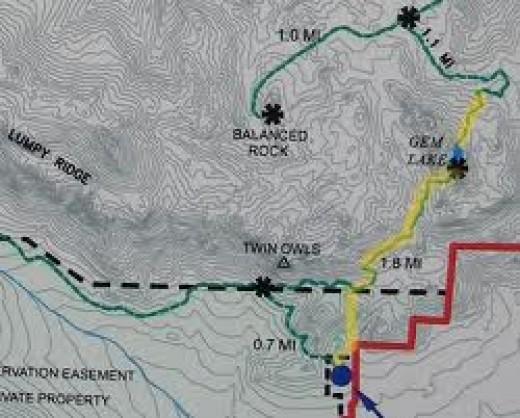 Gem Lake Trail Map