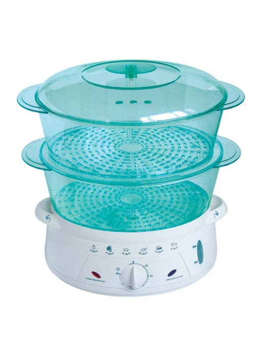 If you have a steamer like the above steamer with two baskets you can steam your vegetables in one basket and meat in the other basket. And then combine your items for a delicious steamed meal.