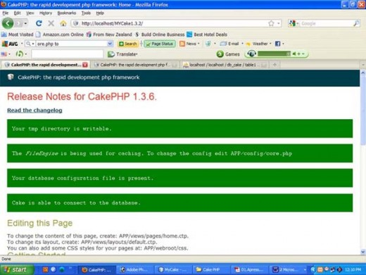 Writable Screen of Cakephp without error