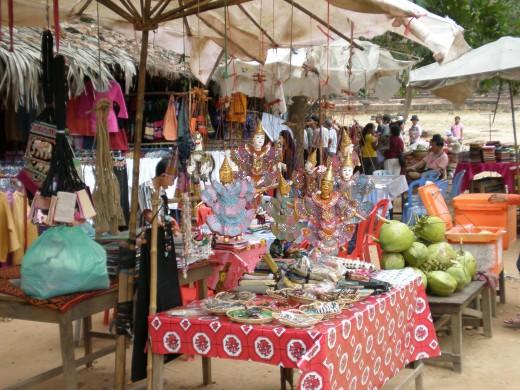 Crafts and Fruit Stalls at Preah Ko, Temples of Angkor, Cambodia