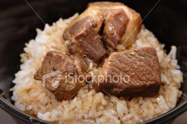 Pork adobo rice toppings