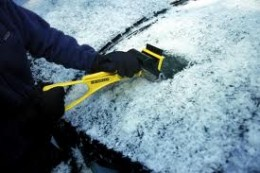 Wear gloves when clearing snow and ice!