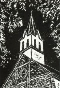 "My original limited edition linocut titled ""Praha Prayers"""