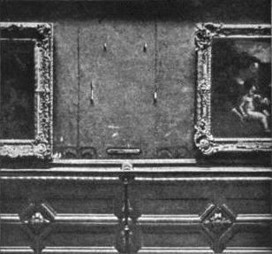 The sight which Louis Beroud saw instead of La Gioconda. Image via Wikipedia