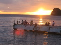 Sunset from the Soufriere Jetty, St. Lucia