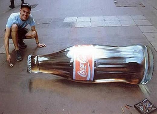 Julian Beever- Coca Cola