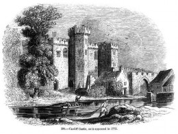 Cardiff castle in ancient times