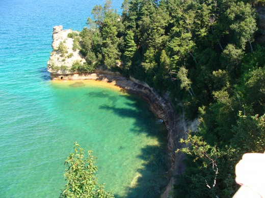 Miners Castle along Pictured Rocks National Lakeshore.