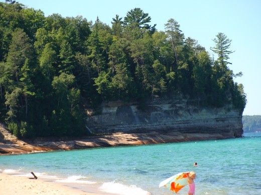 Another view of Miners Beach toward Miners Castle.