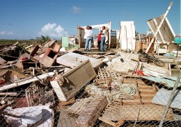 Destruction of Hurricane George (1998) in Puerto Rico