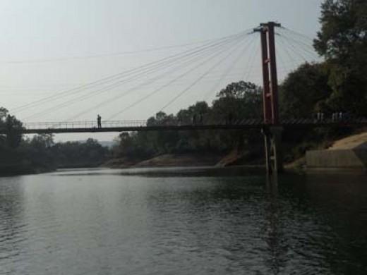 River with Beautiful Bridge